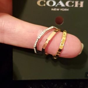 Coach Tri-Color Ring Set